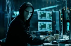 Photo of unknown technology hacker at work